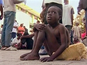 Haitian child waiting to be airlifted to South Florida after the devastating 2010 earthquake. www.palmbeachpost.com