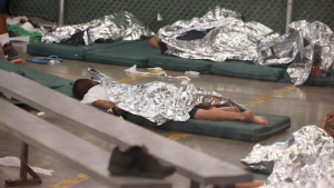 "Child detainees in the ""hielera."" Ross D. Franklin/AP"