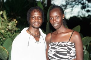 Isaac and Audrey on their wedding day in Kenya.