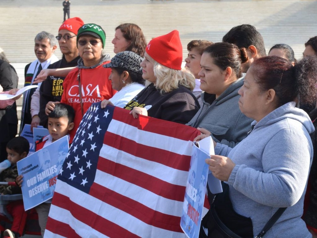 Melissa joined other immigration advocates in front of the U.S. Supreme Court.