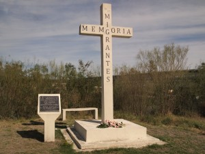 Migrant Cross, Reynosa, Mexico, commemorating those who died on their journey north.