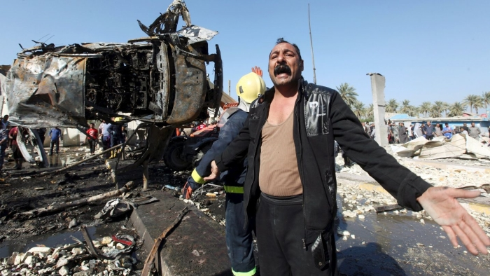 Suicide car bomb attack, Hillah, March 2016. Photo credit: Haaretz.