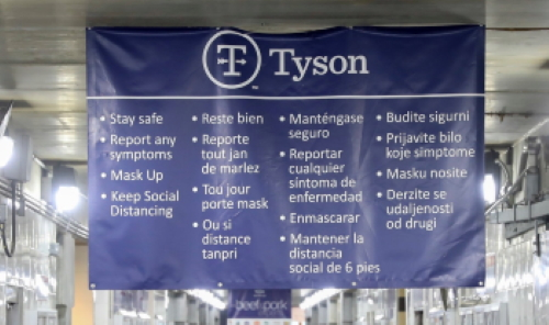 Tyson sign in four different languages